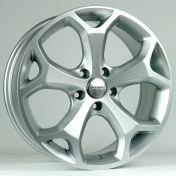 Alu kola HRS BK386, 16x6.5 5x108 ET50, stříbrná