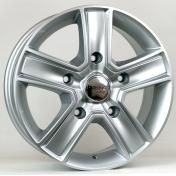 Alu kola HRS BK473, 15x6.5 5x160 ET58, stříbrná (zátěžová)