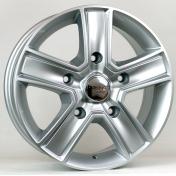 Alu kola HRS BK473, 16x6.5 5x130 ET50, stříbrná (zátěžová)