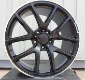 Alu kola Racing Line A8221B, 21x10 5x130 ET45, černá matná + leštěný límec
