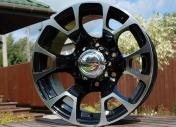 Alu kola Racing Line BK254, 15x8 6x139.7 ET0, černá + leštění