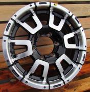 Alu kola Racing Line DW642, 16x7.5 6x139.7 ET15, černá + leštění
