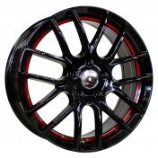 Alu kola Racing Line F40, 17x7 5x112 ET40, černá s červenou linkou