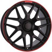 Alu kola Racing Line FE115, 22x10 5x130 ET36, černá s červenou linkou