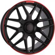 Alu kola Racing Line FE115, 21x10 5x130 ET35, černá s červenou linkou