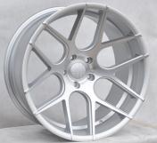 Alu kola Racing Line SSA03, 20x10 5x120 ET0, Stříbrná matná + leštění celoroční použití