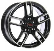 Alu kola Racing Line VW511, 16x6.5 5x112 ET33, černá + leštění