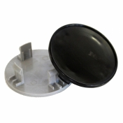 Středové krytky do alu kol CS65 vnější průměr A 64,2mm B 48,5mm C 9,8mm D 11,4mm E 16,0mm