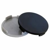 Středové krytky do alu kol D09 vnější průměr A 63,5mm B 61,0mm C 2,5mm D 4,0mm E 6,0mm