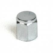 Ventilová čepička kovová chromovaná šestihran nízká