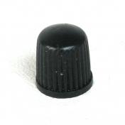 Ventilová čepička plastová černá nízká