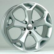 Alu kola HRS BK386, 17x7.5 5x108 ET50, stříbrná