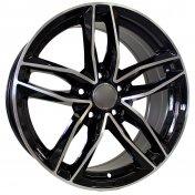 Alu kola Mille Miglia MY755, 18x8 5x112 ET35, černá + leštění