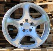 Alu kola Racing Line A5390, 17x8 5x112 ET35, stříbrná + leštění