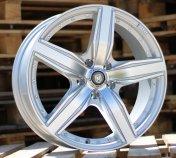 Alu kola Racing Line A5396, 17x7 5x115 ET40, stříbrná + leštění