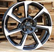 Alu kola Racing Line A7052, 17x7.5 5x100 ET39, černá + leštění