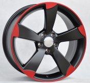 Alu kola Racing Line BK217, 18x8 5x112 ET45, černá s červenou linkou