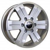 Alu kola HRS BK562, 16x7 6x130 ET55, stříbrná (zátěžová)