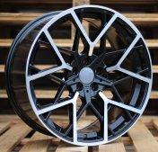 Alu kola Racing Line BY1383, 19x8.5 5x120 ET35, černá + leštění