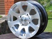 Alu kola HRS BY723, 13x5.5 4x100 ET35, stříbrná metalíza