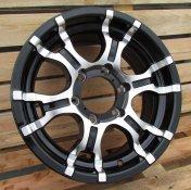 Alu kola Racing Line LU232, 16x7 6x139.7 ET10, černá + leštění