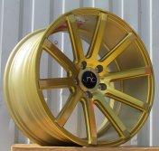 Alu kola Racing Line LU590, 18x8.5 5x112 ET35, zlatá + leštěný límec