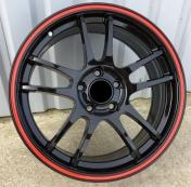 Alu kola Racing Line M30, 17x7 5x109 ET40, černá s červenou linkou