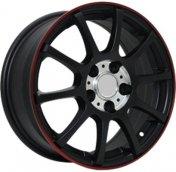 Alu kola Racing Line RL17, 16x6.5 4x100 ET36, černá matná s červenou linkou