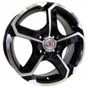 Alu kola Racing Line SH665, 14x5.5 4x114.3 ET35, černá + leštění