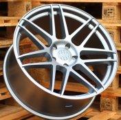 Alu kola Racing Line SSA03, 20x9 5x120 ET15, Stříbrná matná + leštění celoroční použití