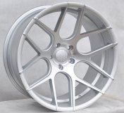 Alu kola Racing Line SSA03, 20x9 5x120 ET15, stříbrná matná + leštění