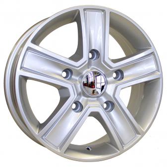 Alu kola HRS BK473, 15x6.5 5x118 ET55, stříbrná (zátěžová)