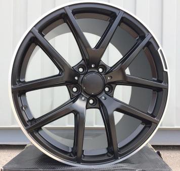Alu kola Racing Line A8221, 21x10 5x130 ET45, Černá matná + leštění