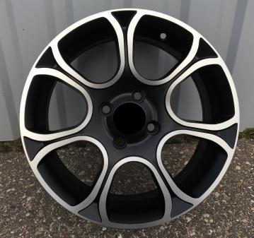 Alu kola Racing Line BK5164, 15x6 4x99 ET35, černá + leštění