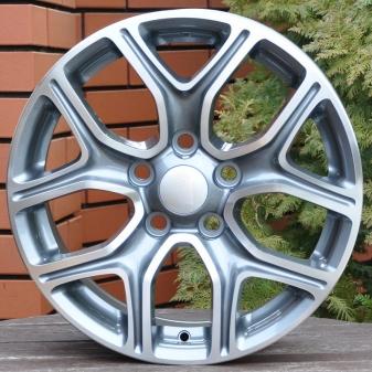 Alu kola Racing Line DW5133, 16x6.5 5x114.3 ET45, šedivá + leštění