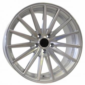 Alu kola Racing Line FR999, 19x8.5 5x112 ET35, stříbrná + leštění
