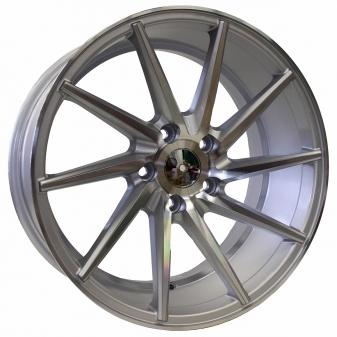 Alu kola Racing Line XF099, 20x10 5x120 ET38, stříbrná + leštění