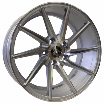 Alu kola Racing Line XF099, 18x9 5x112 ET35, stříbrná + leštění