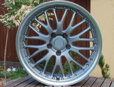 Alu kola Racing Line ZE353, 19x8.5 5x120 ET20, šedivá matná + leštění