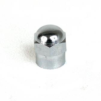 Ventilová čepička kovová chromovaná šestihran zaoblená