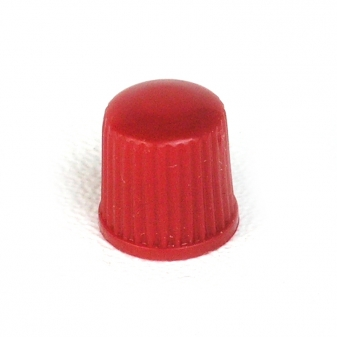 Ventilová čepička plastová červená nízká