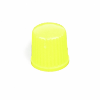 Ventilová čepička plastová žlutá nízká