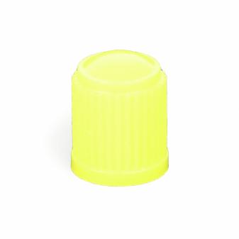 Ventilová čepička plastová žlutá vysoká